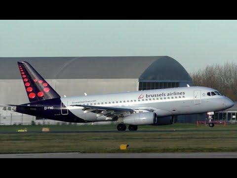 SUPERJET   Brussels Airlines Sukhoi SJ100 at Manchester Airport