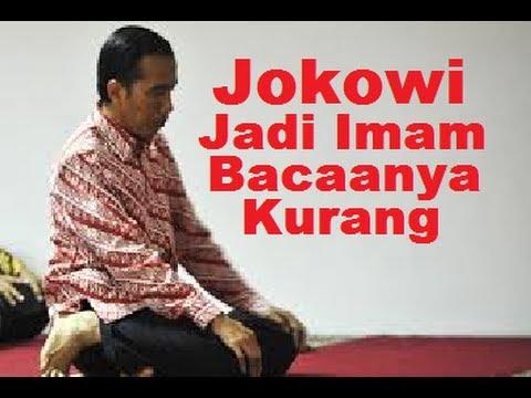Jokowi Imam Shalat Bacaan Al Fatihah Kurang Lengkap