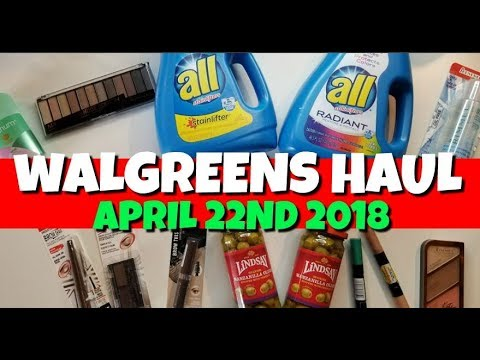 Walgreens Haul April 22nd-28th 2018