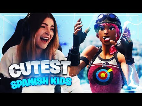 I met the CUTEST Spanish kids in Fortnite: Battle Royale | KittyPlays