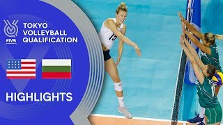 USA Vs. BULGARIA - Highlights Women | Volleyball Olympic Qualification 2019