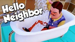 Vecinul face baie Imbracat !