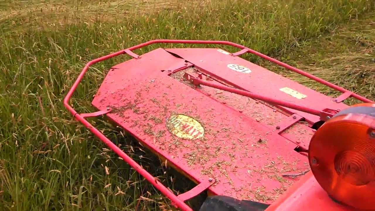 Mowing Hay With A Ccm Drum Mower Youtube