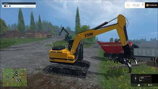 Farming simulator 2015  Big wood chipper