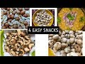 4 super easy & quick snack recipes || ready to eat or store || homemade healthy snack