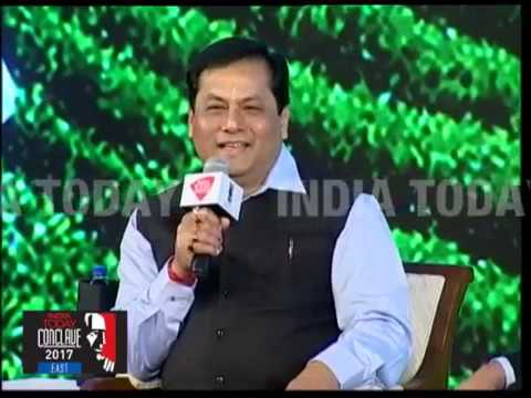 Sarbananda Sonowal Speaks On The Northeastern Project For New India | India Today Conclave East 2017