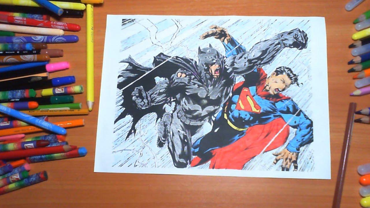 Superman Vs Batman New Coloring Pages For Kids Colors Superheroes