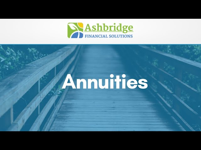 Coffee Break with Debbie Ash - Annuities