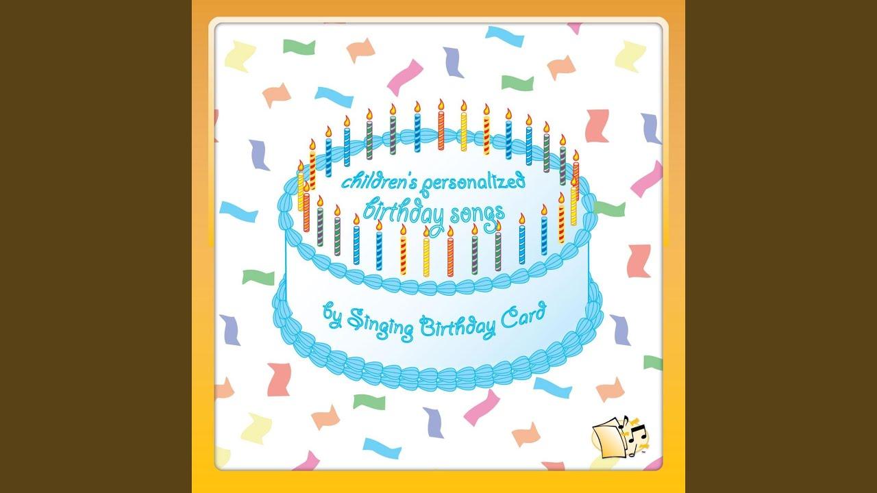 Happy Birthday Alexandra Childrens Singing Card