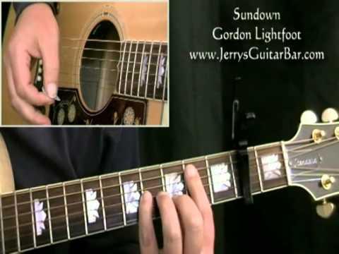 How To Play Gordon Lightfoot Sundown Intro Only Youtube