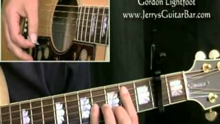 How To Play Gordon Lightfoot Sundown (intro only)