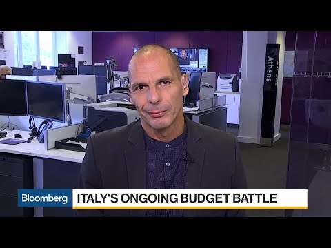 Varoufakis Says Italy's Actions Bring EU Closer to Disintegration