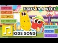 Download 7 DAYS IN A WEEK | LARVA KIDS | LEARNING SONGS | NURSERY RHYME | KIDS SONG | 2 MIN MP3 song and Music Video