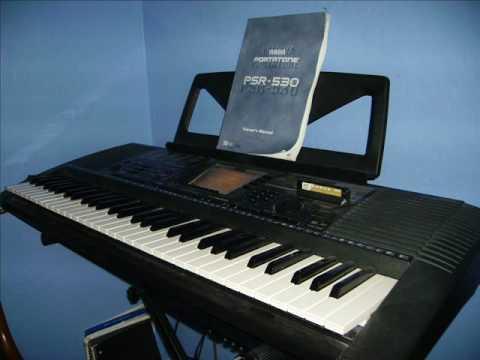 yamaha psr 530 acoustic piano youtube. Black Bedroom Furniture Sets. Home Design Ideas