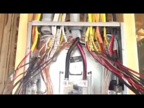 How to install 200 amp sub panel - YouTube