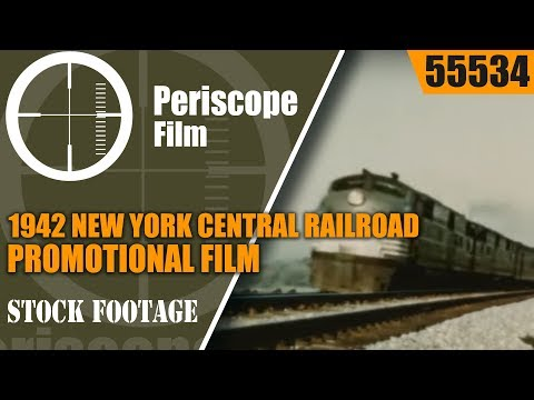 "1942 NEW YORK CENTRAL RAILROAD  PROMOTIONAL FILM  ""NEW YORK CALLING""  NEW YORK CITY  55534"