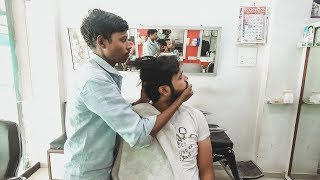 ASMR Rural Barber Vikram Head Massage with Neck Cracking