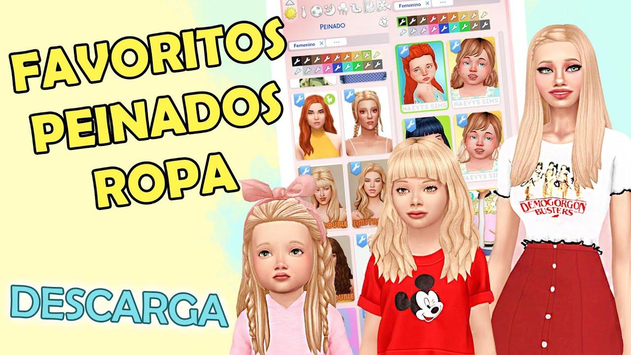 Las mejores variaciones de los sims 4 peinados Galería De Tutoriales De Color De Pelo - Ropa y peinados para LOS SIMS 4 - YouTube