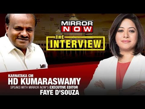 Karnataka CM HD Kumaraswamy In An Exclusive Conversation With Faye D'souza