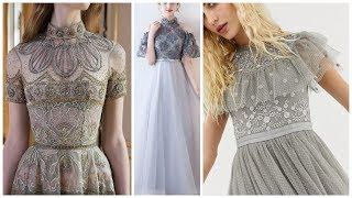 gorgeous & cute needle thread work net dresses ,,💃