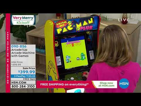 Arcade1Up FullSize PacMan Arcade Machine with 8 Games from HSNtv