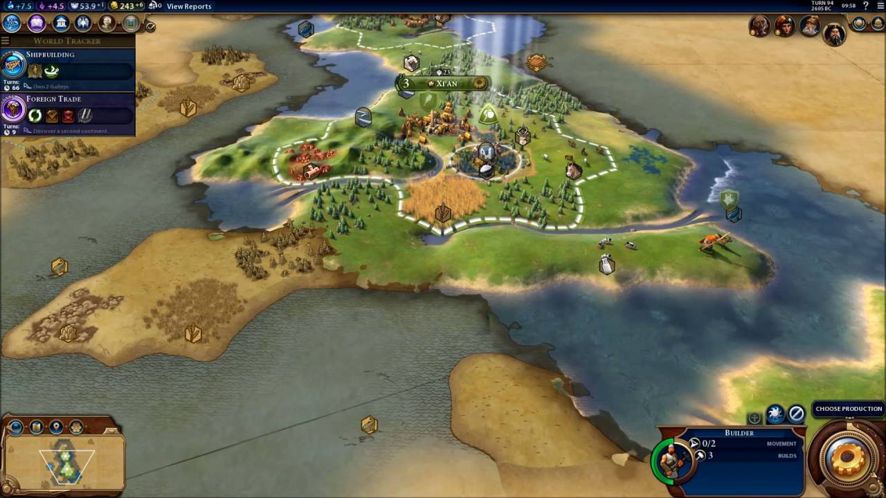 Civilization 6 Earth Map Huge Chinese Empire 2 Youtube
