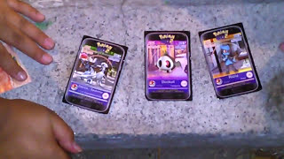 Jugando con tarjetas de combate:De Pokémon GO. Con Dannae.