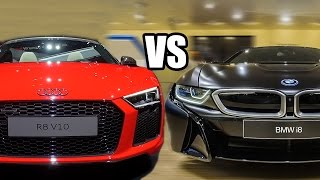 BMW I8 VS Audi R8 V10 Plus - Which one you Would Buy?!