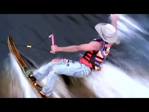 Alan Jackson's 'Chattahoochee' music video but only the water skiing scenes and it's 10 hours long.