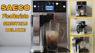 Saeco Picobaristo Deluxe Sm5573 10 Test Cappuccino And Café Au Lait Youtube