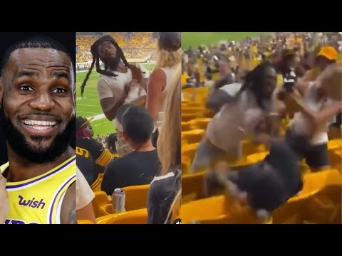 Woman Slaps Man At Steelers Game & Gets Her Boyfriend Knocked Out!