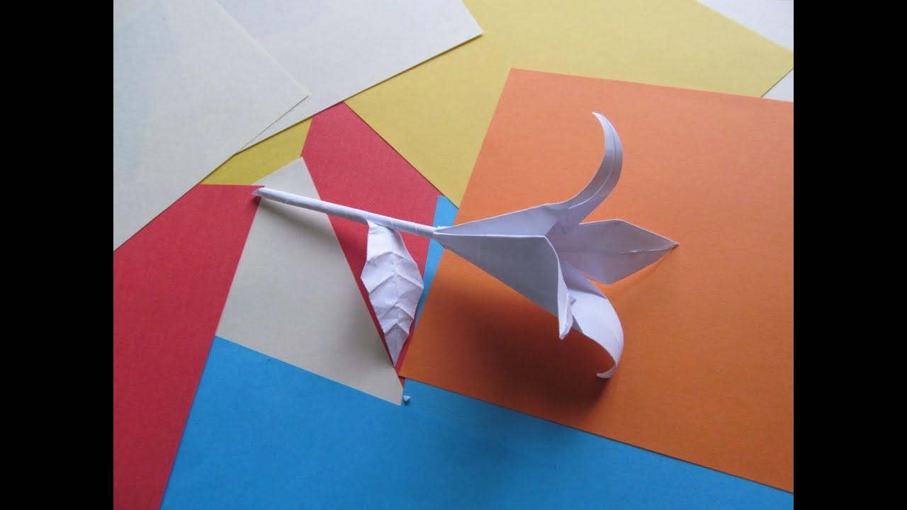 Цветок оригами из купюры