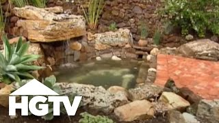 Waterfall Terraced Garden-HGTV