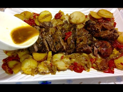 Roast Leg Of Lamb With Potatoes