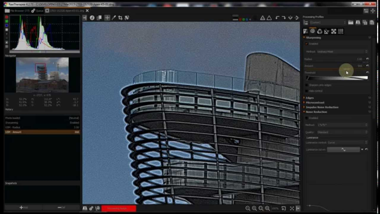RawTherapee as part of a Workflow – Detail Tab : Sharpening and Noise  Reduction