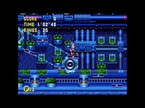 Sonic CD (J) - Metallic Madness 1 All time zones