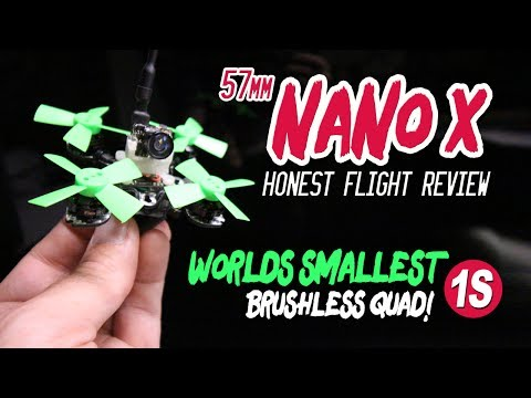 WORLD'S SMALLEST 1S Brushless Quad - 57mm NANO X - HONEST REVIEW