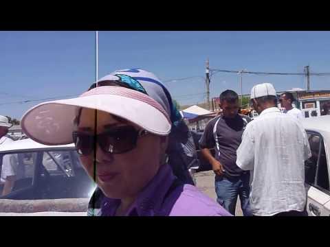 At the Kazakh Border - Entering Uzbekistan | Border Kazakhstan - Uzbekistan Silk Road Tour