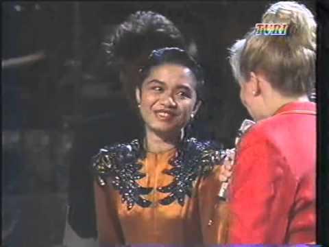 Ruth Sahanaya  Winners Ceremony Midnight Sun Song Festival 1992