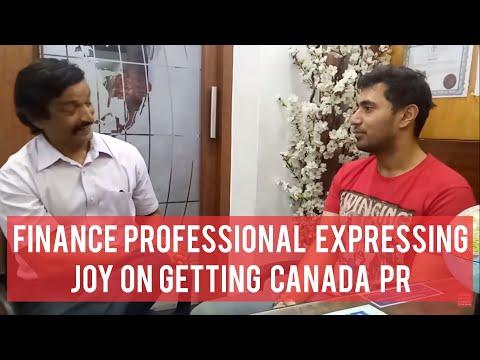 Our Canada visa got financial professional sharing his joy with Manoj Palwe.(dreamvisas.com)