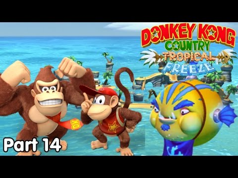 Slim Plays DKC: Tropical Freeze - #14. Puffed Up Fish