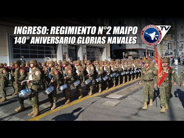 21 de mayo 2019: Ingreso a Sotomayor del Regimiento N°2 Maipo, Ejército de Chile P 2/4