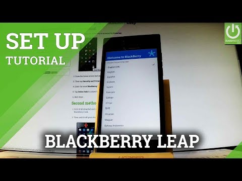 First Set Up in BLACKBERRY Leap - Beginner's Guide / Activation