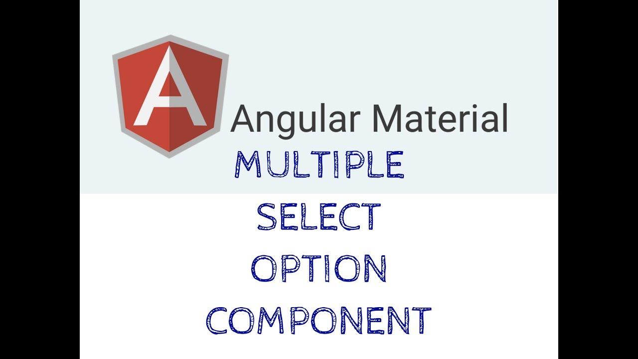 Angular Material Multiple Select Option