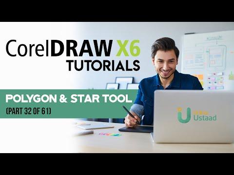 corel draw x6 tutorials in urdu hindi part 32 polygon. Black Bedroom Furniture Sets. Home Design Ideas