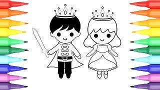 Coloring Pages Prince and Princess I Fun Coloring videos for kids