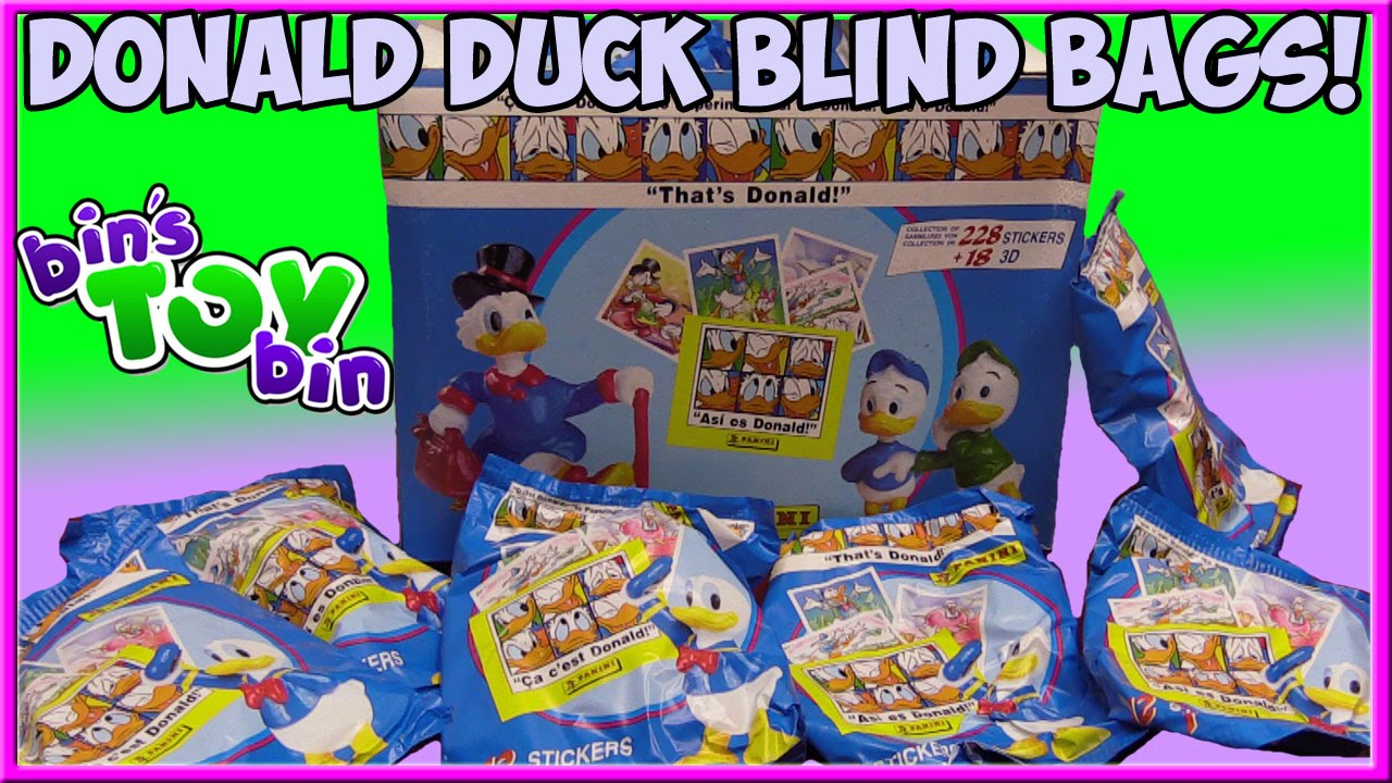 Opening Vintage 1990s Donald Duck Paperino Blind Bags From
