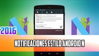 Notificaciones Estilo Android N | Floatify Quick Replies | 2016