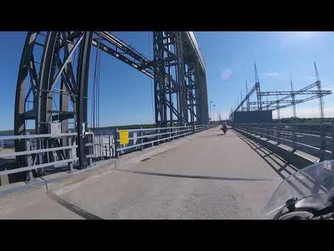 James Bays QC - Riding across La Grande 1 Generating Station - Chisasibi Quebec