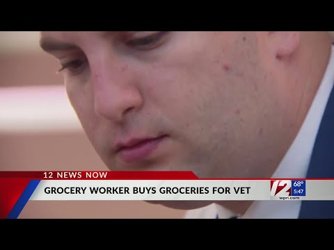 VIDEO: Grocery store worker helps veteran pay for groceries